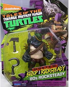PLAYMATES NICKELODEON TALES OF THE TEENAGE MUTANT NINJA TURTLES ベーシックフィギュア 2017 WANTED: BEBOP & ROCKSTEADY 80s ROCKSTEADY