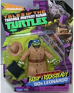 PLAYMATES NICKELODEON TALES OF THE TEENAGE MUTANT NINJA TURTLES ベーシックフィギュア 2017 WANTED: BEBOP & ROCKSTEADY 80s LEONARDO