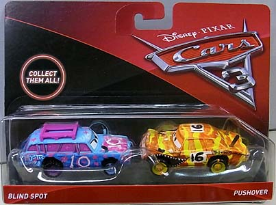 MATTEL CARS 3 2PACK BLIND SPOT & PUSHOVER ブリスターハガレ特価