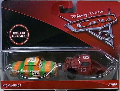 MATTEL CARS 3 2PACK HIGH IMPACT & JIMBO