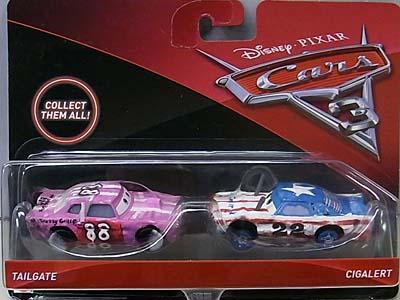 MATTEL CARS 3 2PACK TAILGATE & CIGALERT
