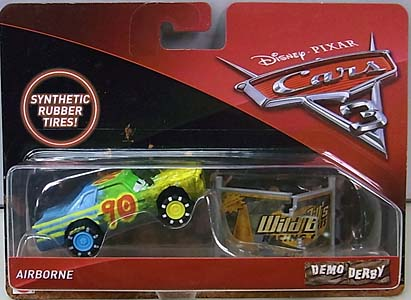 MATTEL CARS 3 DEMO DERBY AIRBORNE [RUBBER TIRES] 台紙傷み特価