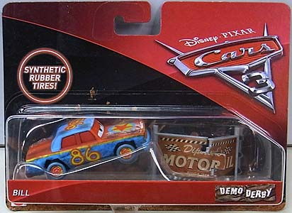 MATTEL CARS 3 DEMO DERBY BILL [RUBBER TIRES]