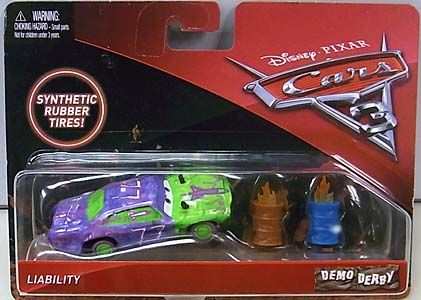 MATTEL CARS 3 DEMO DERBY LIABILLITY [RUBBER TIRES]