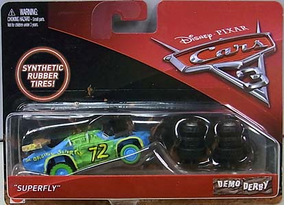 MATTEL CARS 3 DEMO DERBY SUPERFLY [RUBBER TIRES] 台紙傷み特価