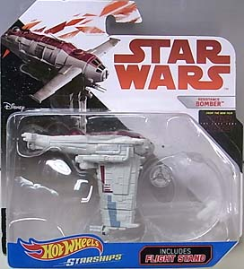 MATTEL HOT WHEELS STAR WARS DIE-CAST VEHICLE STAR WARS: THE LAST JEDI RESISTANCE BOMBER