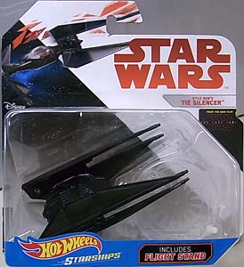 MATTEL HOT WHEELS STAR WARS DIE-CAST VEHICLE STAR WARS: THE LAST JEDI KYLO REN'S TIE SILENCER