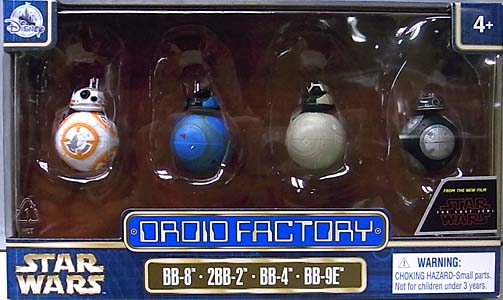 STAR WARS USAディズニーテーマパーク限定 STAR WARS: THE LAST JEDI DROID FACTORY 4PACK [BB-8、2BB-8、BB-4、BB-9E]
