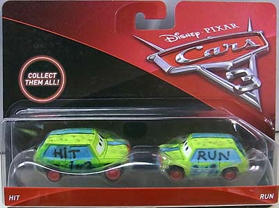 MATTEL CARS 3 2PACK HIT & RUN 台紙傷み特価