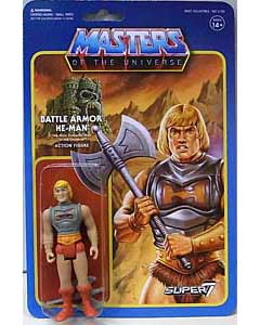 SUPER 7 REACTION FIGURES 3.75インチアクションフィギュア MASTERS OF THE UNIVERSE BATTLE ARMOR HE-MAN [BATTLE DAMAGED]