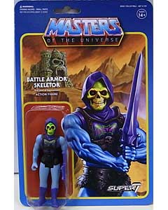 SUPER 7 REACTION FIGURES 3.75インチアクションフィギュア MASTERS OF THE UNIVERSE BATTLE ARMOR SKELETOR [BATTLE DAMAGED]