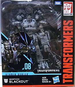 HASBRO TRANSFORMERS STUDIO SERIES LEADER CLASS DECEPTICON BLACKOUT #08