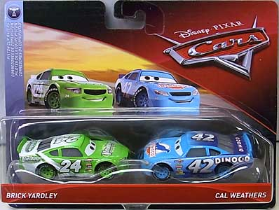 MATTEL CARS 2018 2PACK BRICK YARDLEY & CAL WEATHERS