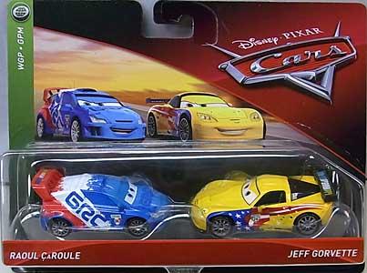 MATTEL CARS 2018 2PACK RAOUL CAROULE & JEFF GORVETTE