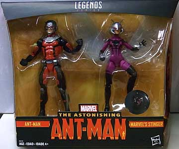 HASBRO MARVEL LEGENDS 2018 2PACK THE ASTONISHING ANT-MAN ANT-MAN & MARVEL'S STINGER