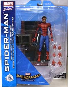 DIAMOND SELECT MARVEL SELECT USAディズニーストア限定 映画版 SPIDER-MAN: HOMECOMING SPIDER-MAN パッケージ傷み特価