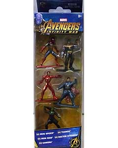 JADA TOYS MARVEL NANO METALFIGS 映画版 AVENGERS: INFINITY WAR 5PACK