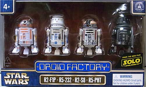 STAR WARS USAディズニーテーマパーク限定 SOLO: A STAR WARS STORY DROID FACTORY 4PACK [R2-F1P、R5-232、R2-S8、R5-PHT]