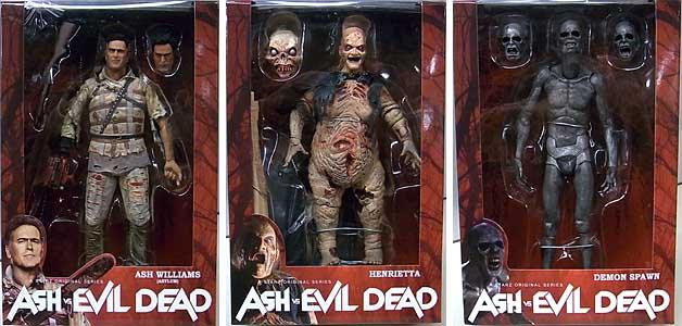 NECA ASH VS EVIL DEAD 7インチアクションフィギュア シリーズ2 3種セット