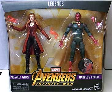 HASBRO MARVEL LEGENDS 2018 2PACK 映画版 AVENGERS: INFINITY WAR SCARLET WITCH & MARVEL'S VISION