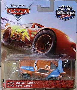 MATTEL CARS 2018 FIREBALL BEACH RACERS シングル RYAN INSIDE LANEY ブリスターワレ特価