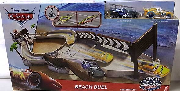 MATTEL CARS 2018 FIREBALL BEACH RACERS PLAYSET BEACH DUEL TRACK SET