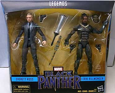 HASBRO MARVEL LEGENDS 2018 2PACK 映画版 BLACK PANTHER EVERETT ROSS & ERIK KILLMONGER パッケージ傷み特価