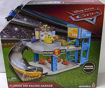 MATTEL CARS 2018 PLAYSET FLORIDA 500 RACING GARAGE パッケージ傷み特価