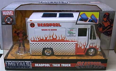 JADA TOYS DEADPOOL METALS DIE CAST 1/24スケール DEADPOOL TACO TRUCK 塗装傷み特価