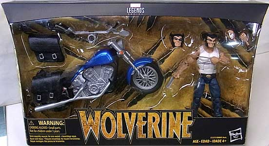HASBRO MARVEL LEGENDS 2018 WOLVERINE AND MOTORCYCLE パッケージ傷み特価