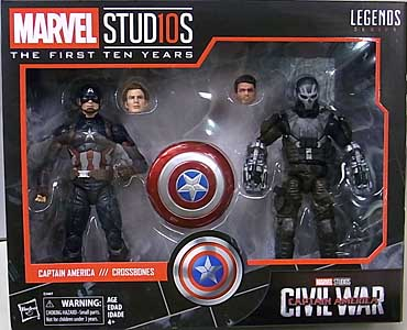 HASBRO MARVEL STUDIOS: THE FIRST TEN YEARS 映画版 CAPTAIN AMERICA CIVIL WAR CAPTAIN AMERICA & CROSSBONES 2PACK