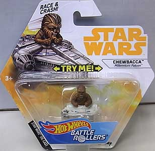 MATTEL HOT WHEELS STAR WARS DIE-CAST VEHICLE BATTLE ROLLERS 2018 CHEWBACCA
