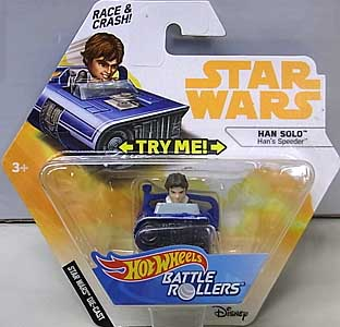 MATTEL HOT WHEELS STAR WARS DIE-CAST VEHICLE BATTLE ROLLERS 2018 HAN SOLO [HAN'S SPEEDER]