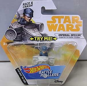 MATTEL HOT WHEELS STAR WARS DIE-CAST VEHICLE BATTLE ROLLERS 2018 IMPERIAL OFFICER