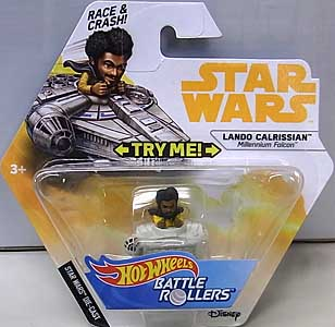 MATTEL HOT WHEELS STAR WARS DIE-CAST VEHICLE BATTLE ROLLERS 2018 LANDO CALRISSIAN