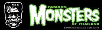 ATOM AGE INDUSTRIES STICKER FAMOUS MONSTERS OF FILMLAND FRANKENSTEIN