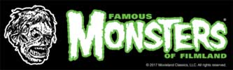 ATOM AGE INDUSTRIES STICKER FAMOUS MONSTERS OF FILMLAND SHOCK MONSTER