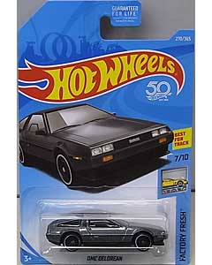 MATTEL HOT WHEELS 1/64スケール 2018 FACTORY FRESH DMC DELOREAN #270