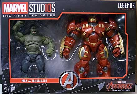 HASBRO MARVEL STUDIOS: THE FIRST TEN YEARS 映画版 AVENGERS: AGE OF ULTRON HULK & HULKBUSTER 2PACK パッケージ傷み特価