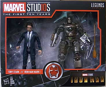 HASBRO MARVEL STUDIOS: THE FIRST TEN YEARS 映画版 IRON MAN TONY STARK & IRON MAN MARK I 2PACK パッケージ傷み特価