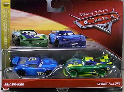 MATTEL CARS 2018 2PACK ERIC BRAKER & SPIKEY FILLUPS