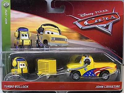 MATTEL CARS 2018 2PACK TURBO BULLOCK & JOHN LASSETIRE 台紙傷み特価
