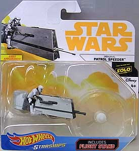 MATTEL HOT WHEELS STAR WARS DIE-CAST VEHICLE 2018 IMPERIAL PATROL SPEEDER