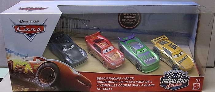 MATTEL CARS 2018 FIREBALL BEACH RACERS BEACH RACING 4PACK