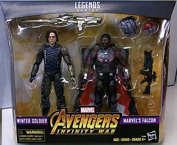 HASBRO MARVEL LEGENDS 2018 2PACK 映画版 AVENGERS: INFINITY WAR WINTER SOLDIER & MARVEL'S FALCON パッケージ傷み特価