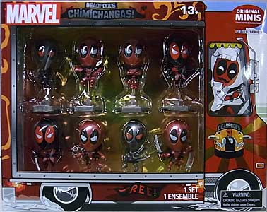 BLIP TOYS DEADPOOL'S CHIMICHANGA'S ORIGINAL MINIS 8PACK