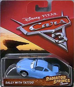 MATTEL CARS 3 シングル SALLY WITH TATTOO [RADIATOR SPRINGS CLASSIC] ブリスターハガレ特価