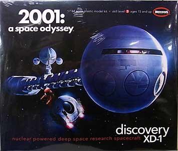 メビウスモデル 1/144スケール 2001年宇宙の旅 ディスカバリー号 組み立て式プラモデル パッケージ傷み特価