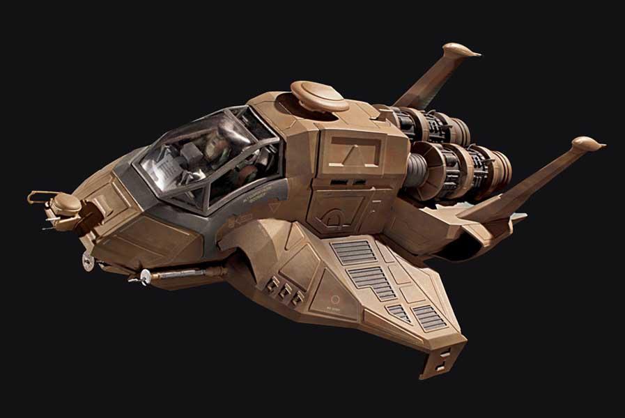 メビウスモデル 1/32スケール バトルスターギャラクティカ コロニアル ラプター 組み立て式プラモデル パッケージ傷み特価
