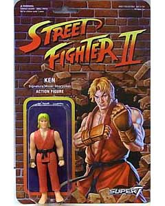 SUPER 7 REACTION FIGURES 3.75インチアクションフィギュア STREET FIGHTER II KEN